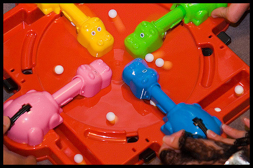 A photo of the game Hungry Hungry Hippos