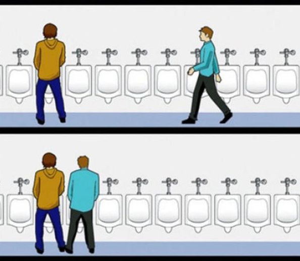 This Urinal Etiquette Game Is Something Every Person Should Master
