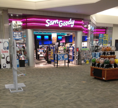 A photo of one of the last operating Sam Goody locations.