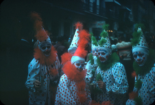 A Group of Scary Clowns