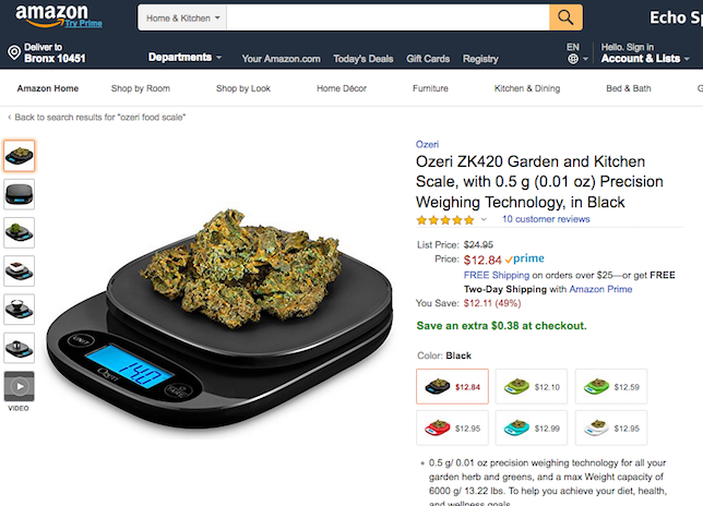 This Food Scale on Amazon Doesn't Beat Around the Bush About the Real Intended Use