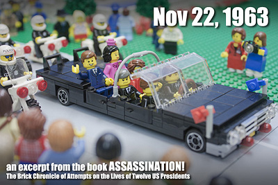 A lego recreation of the Kennedy Assassination