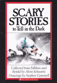 """The cover of the Alvin Schwartz book, """"Scary Stories to Tell in the Dark"""""""