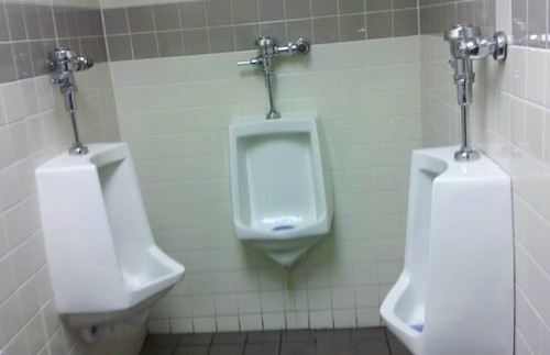 Urinals next to each other