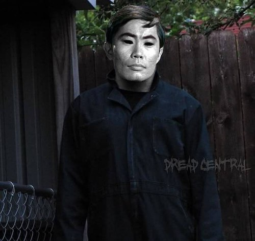 """A photo of Sulu from """"Star Trek"""" as Michael Myers"""